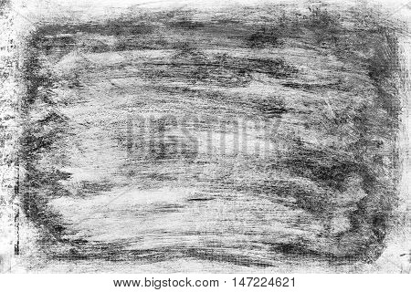 abstract black and white grunge background hand brushed