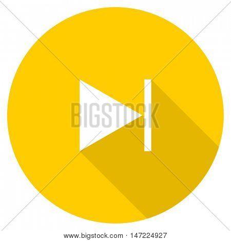next flat design yellow round web icon