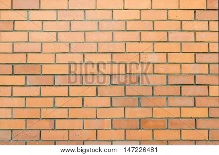 background from sloppy brickwork wall of red brick