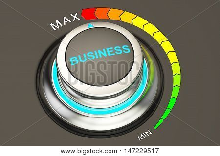 Business controller highest level of business. 3D rendering