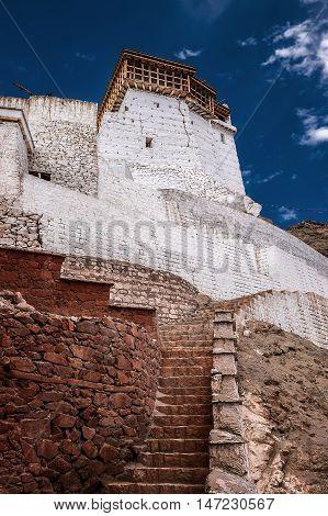 Budhism Tsemo Hmpa in Leh, India .