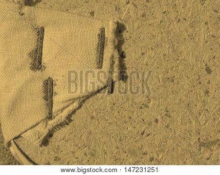 Brown Burlap Background Sepia