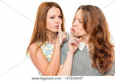 Portrait Of A Beautiful Female Friends Who Have A Secret
