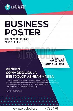 Vector Business poster. Flyer template. Poster for your business. Cover presentation