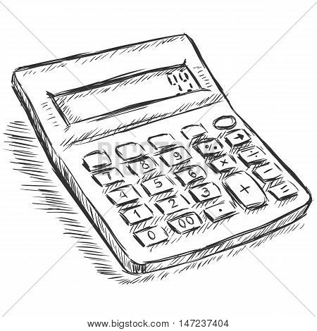 Vector Sketch Illustration - Calculator