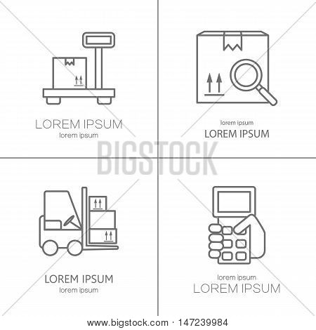 Warehouse stock and industrial storage logos design templates. Modern easy to edit logo template. Vector design series.