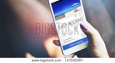 Booking Ticket Online Reservation Travel Flight Concept