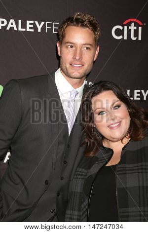 LOS ANGELES - SEP 13:  Justin Hartley, Chrissy Metz at the PaleyFest 2016 Fall TV Preview - NBC at the Paley Center For Media on September 13, 2016 in Beverly Hills, CA