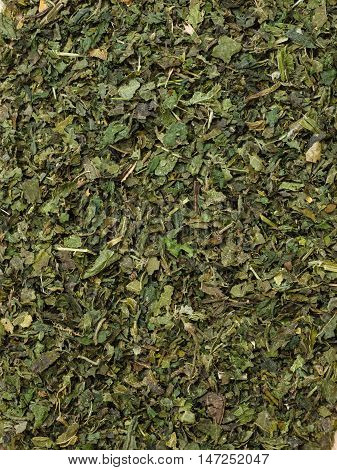 Food Background Herbal Tea Dried Nettle Leaves