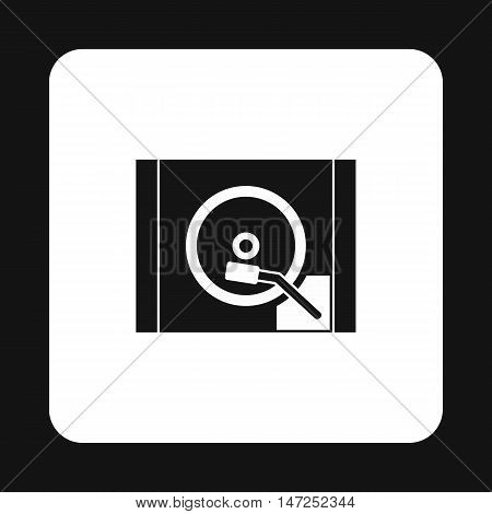 HDD icon in simple style on a white background vector illustration