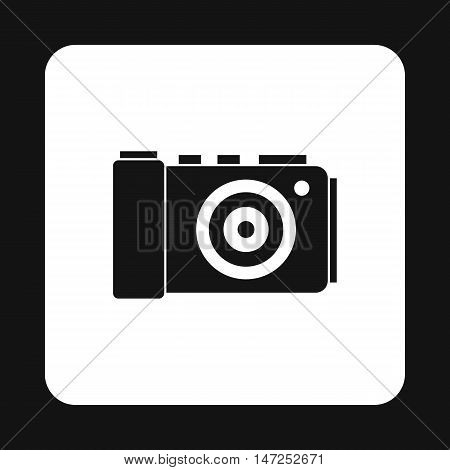 Camera icon in simple style on a white background vector illustration