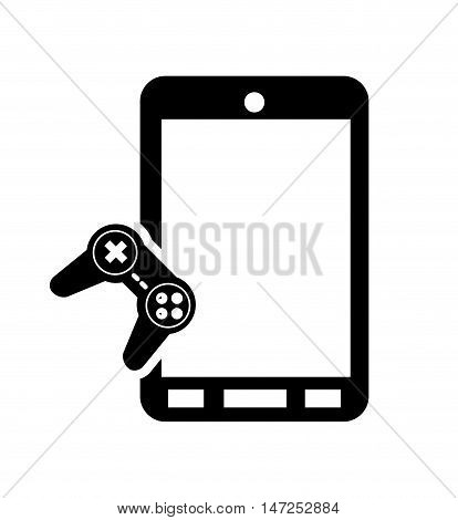 flat design modern cellphone and  game controller icon vector illustration