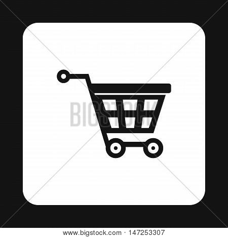 Shopping cart icon in simple style on a white background vector illustration
