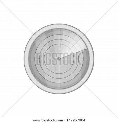 Radar icon in black monochrome style isolated on white background. Installation symbol vector illustration