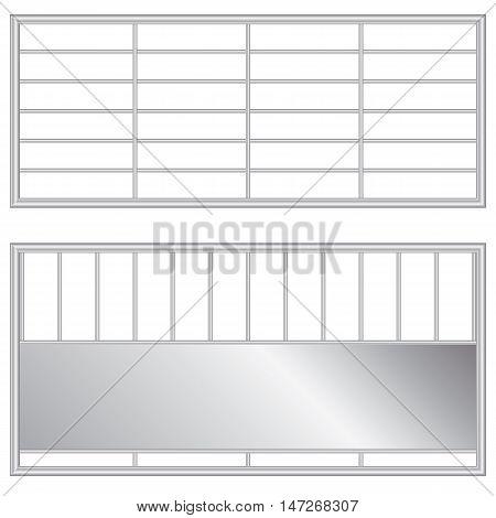 Steel cage made of steel metal for Door with fence and cage design.