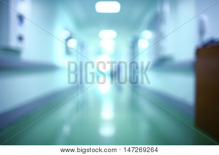 Long building hallway. Unfocused background. Architectual background