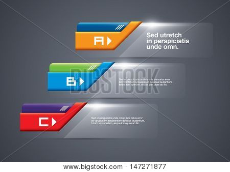 Vector of stylized infographic banner