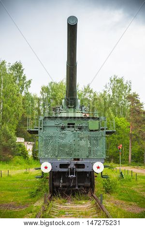 Front View Of 305-mm Railroad Gun