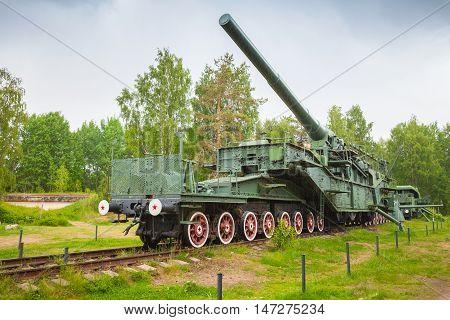305-mm Railroad Gun From Wwii Period