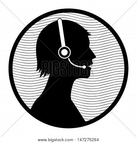 Call customer service icon or sign, vector illustration