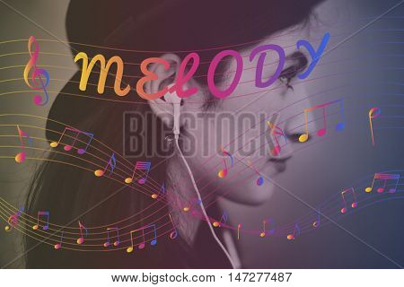 Melody Music Note Rhythm Graphic Concept