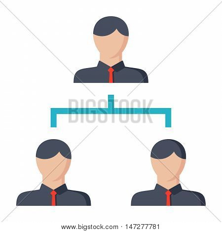 Hierarchy concept with symbol people in flat style.
