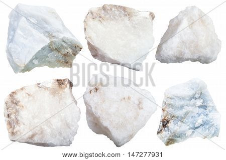 Collection From Specimens Of Anhydrite Stone