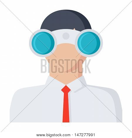Looking for opportunities Concept with businessman and binocular.