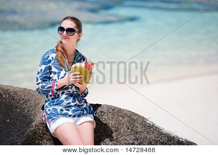 Young Woman With Coconut
