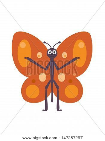 Funny Butterfly Character