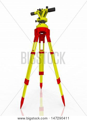 Computer generated 3D illustration with a transit theodolite