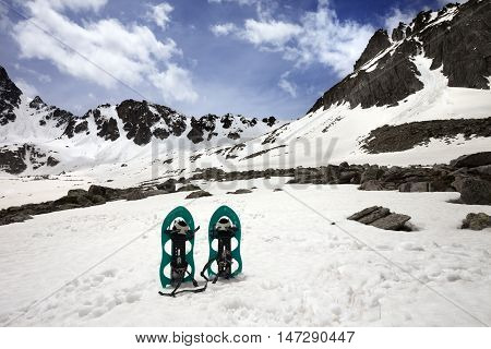 Snowshoes In Snow Mountain