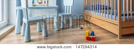 Wooden Toy In Baby Room