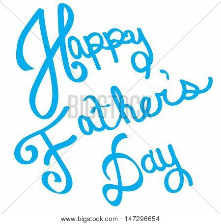 Blue Happy Father's Day in Blue Lettering