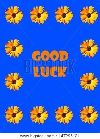 Abstract creative floral good luck greeting card scene