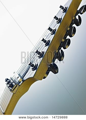 Detail Of Electric Guitar Cords And Frets