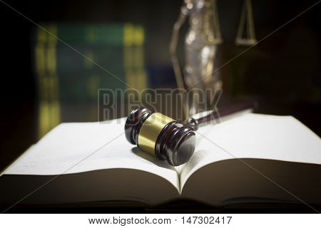 Law gavel on legal book (Justice Concept)
