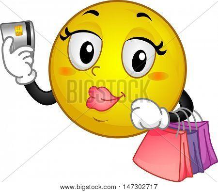 Mascot Credit Card Shopping Bags
