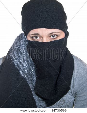 Portrait Of A Woman With A Headscarf