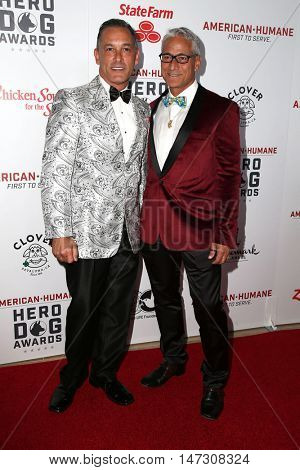 LOS ANGELES - SEP 10:  Johnny Chaillot, Greg Louganis at the 2016 American Humane Hero Dog Awards at the Beverly Hilton Hotel on September 10, 2016 in Beverly Hills, CA