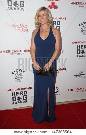 LOS ANGELES - SEP 10:  Alison Sweeney at the 2016 American Humane Hero Dog Awards at the Beverly Hilton Hotel on September 10, 2016 in Beverly Hills, CA