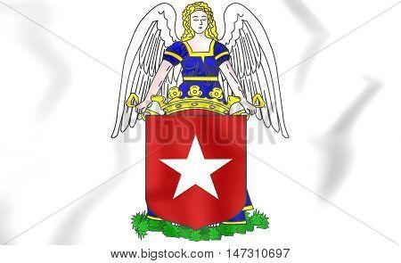 Maastricht Coat Of Arms, Netherlands. 3D Illustration.