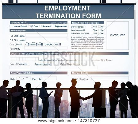 Employment Termination Form Contract Concept