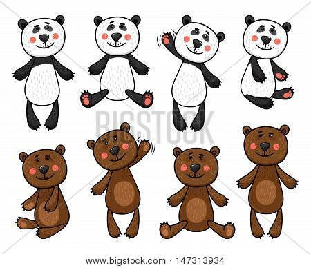 Collection of Bears and Pandas in different poses