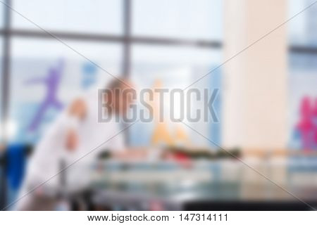 People playing ping pong theme creative abstract blur background with bokeh effect
