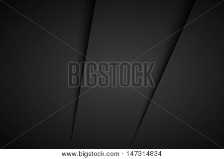 Simple black abstract background with shadows vector illustration