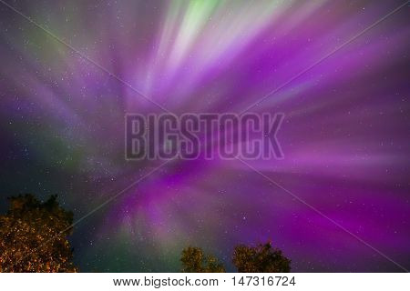 Northern Lights Crown (aurora Borealis) In The Sky