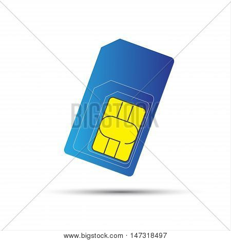 Mobile phone sim card standard micro and nano sim card vector illustration