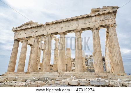The Parthenon on the Athenian Acropolis, Greece