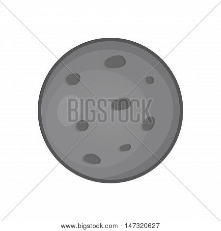 Mars planet icon in black monochrome style on a white background vector illustration